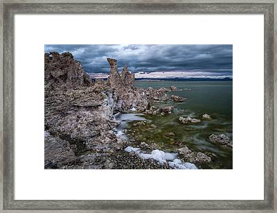 Stormy Mono Lake Framed Print by Cat Connor