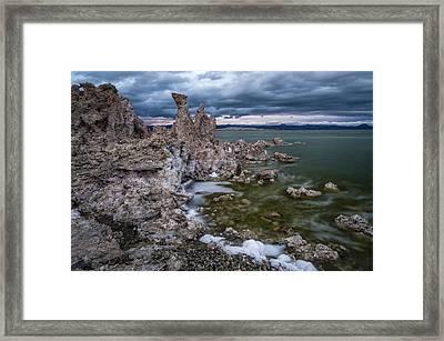 Stormy Mono Lake Framed Print