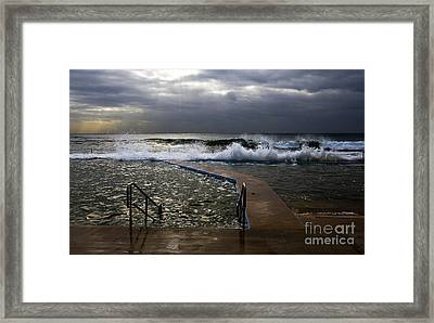 Stormy Morning At Collaroy Framed Print by Avalon Fine Art Photography