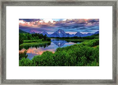 Stormy Morning In Jackson Hole Framed Print by Jeff R Clow