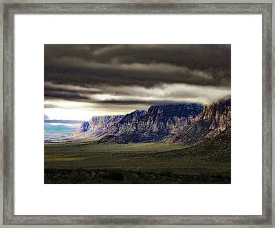 Stormy Morning In Red Rock Canyon Framed Print by Alan Socolik