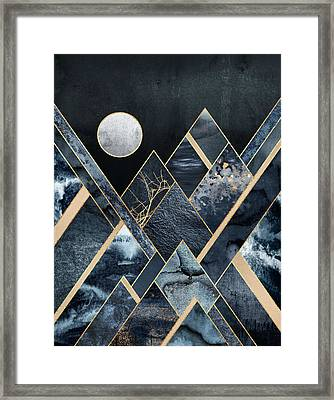 Stormy Mountains Framed Print