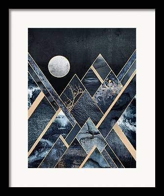 Moon Detail Framed Prints