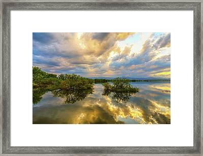 Stormy Night Ahead Framed Print
