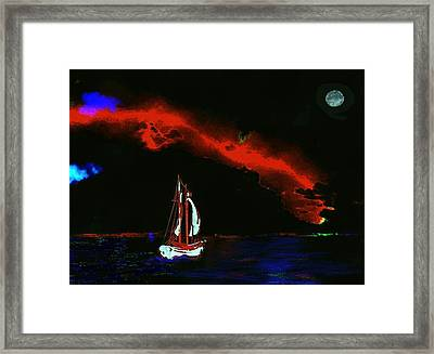 Stormy Night Framed Print by Mimo Krouzian