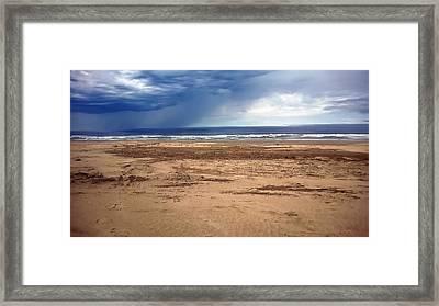 Stormy Nye Beach Framed Print