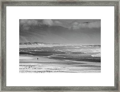 Stormy Oceanside Oregon Framed Print