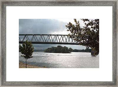Stormy Ohio River Framed Print