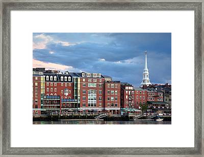 Stormy Portsmouth Waterfront Framed Print by Eric Gendron