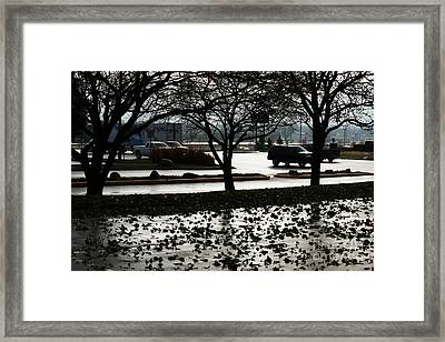 Stormy Reflection Framed Print