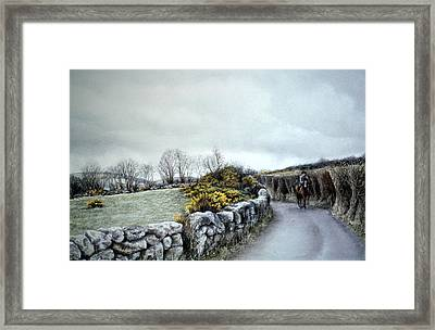 Stormy Ride On The Moor Framed Print