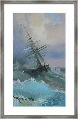 Stormy Sails Framed Print