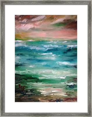 Stormy Sea Framed Print by Patricia Taylor