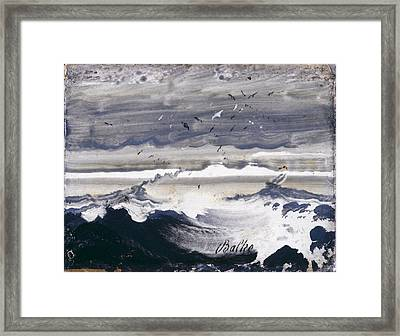 Stormy Sea Framed Print