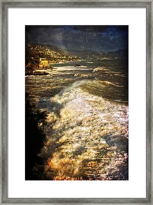 Stormy Sea Framed Print by Silvia Ganora
