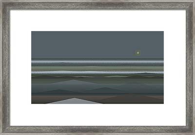 Stormy Sea Framed Print by Val Arie