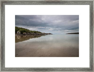 Beneath Stormy Skies Framed Print