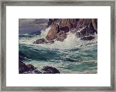 Stormy Seas Framed Print by Edward Henry Potthast