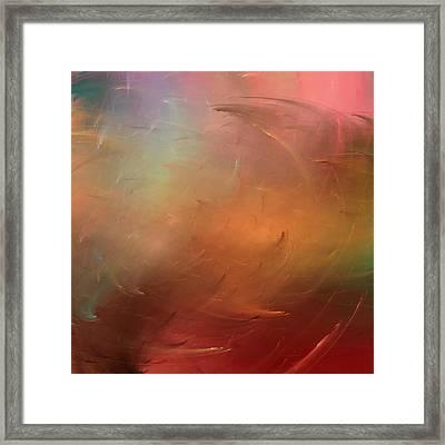 Stormy Seas Fire Framed Print by Wally Boggus