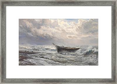 Stormy Seas Framed Print by Henry Moore