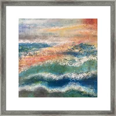 Stormy Seas Framed Print by Kim Nelson