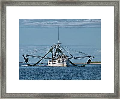 Stormy Seas Return Framed Print