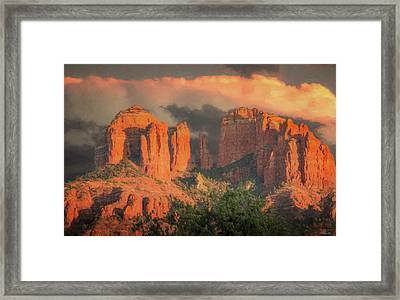 Stormy Sedona Sunset Framed Print