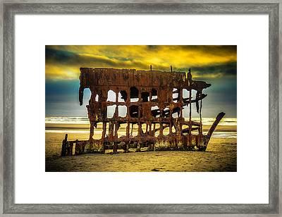 Stormy Shipwreck Framed Print by Garry Gay