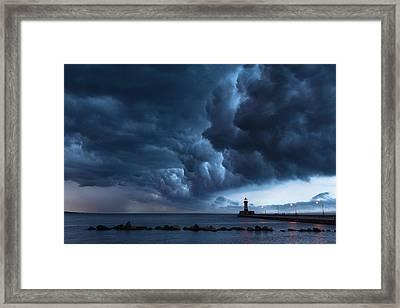 Stormy Skies Framed Print by Alex Ganeev
