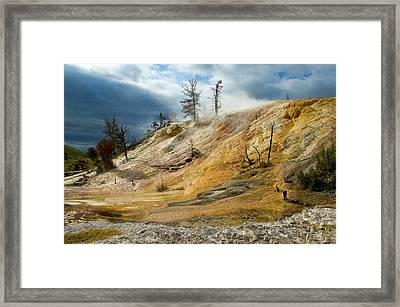 Stormy Skies At Mammoth Framed Print