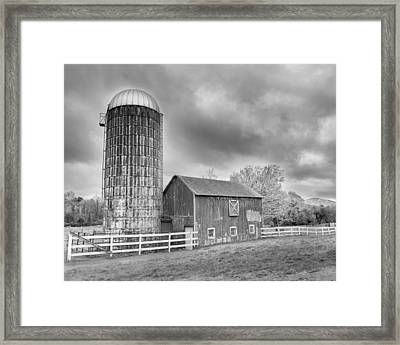 Stormy Skies Bw Framed Print