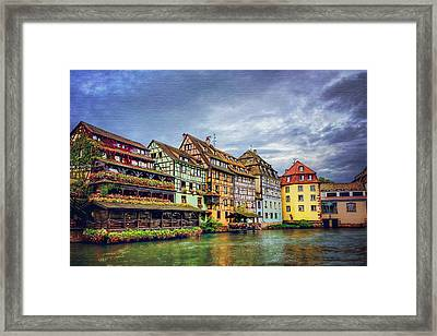 Stormy Skies In Strasbourg Framed Print
