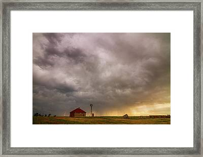 Stormy Skies On The Colorado Plains Framed Print by James BO Insogna