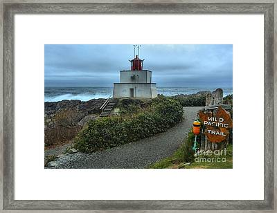 Stormy Skies Over The Amphitrite Lighthouse Framed Print by Adam Jewell
