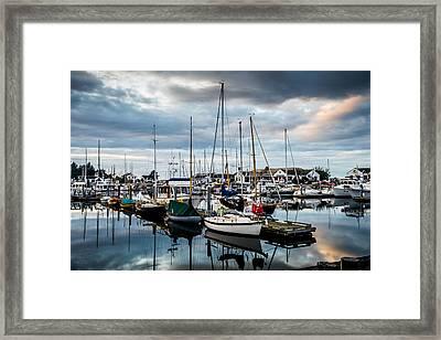 Stormy Skies Framed Print by TL  Mair