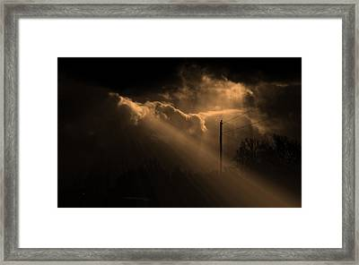 Stormy Sky And Light Framed Print by Martin Morehead