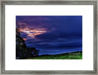 Stormy Sky At Sunrise Framed Print by Thomas R Fletcher