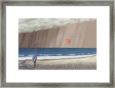 Stormy Sky Framed Print by Gordon Beck