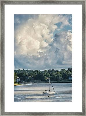 Stormy Sunday Morning On The Navesink River Framed Print