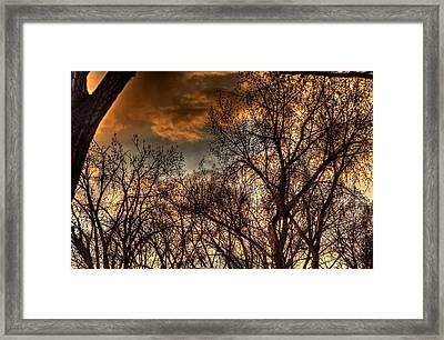 Stormy Sunset 14151 Framed Print by Jerry Sodorff