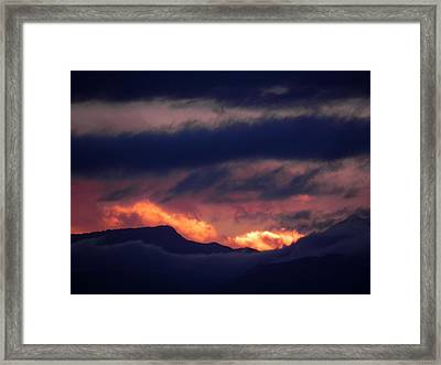Stormy Sunset Framed Print by Adrienne Petterson