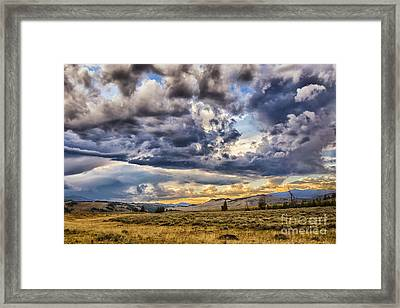 Stormy Sunset At Blacktail Plateau Framed Print