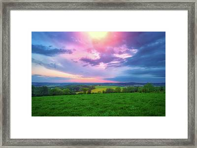 Stormy Sunset At Retzer Nature Center Framed Print