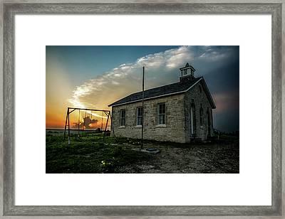 Stormy Sunset Framed Print by Crystal Socha