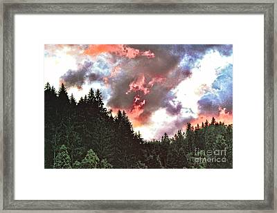 Stormy Sunset  Framed Print by GabeZ Art