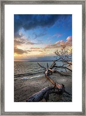 Framed Print featuring the photograph Stormy Sunset by Marvin Spates
