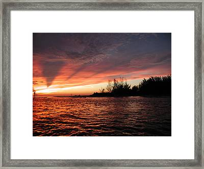 Framed Print featuring the photograph Stormy Sunset by Nancy Taylor