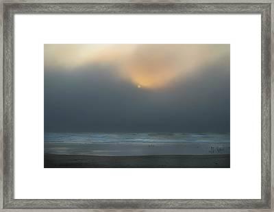 Framed Print featuring the photograph Stormy Sunset Oregon Coast by Yulia Kazansky