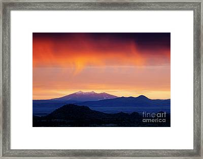 Framed Print featuring the photograph Stormy Sunset by Scott Kemper