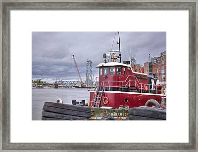 Stormy Tug Framed Print by Eric Gendron
